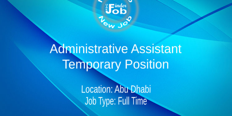 Administrative Assistant - Temporary Position