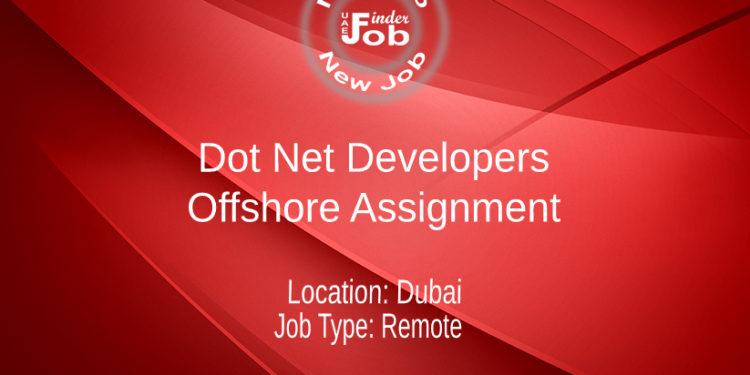 Dot Net Developers (offshore assignment)