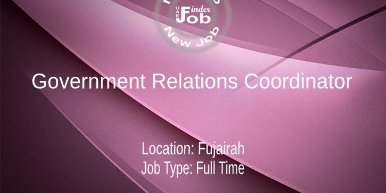 Government Relations Coordinator