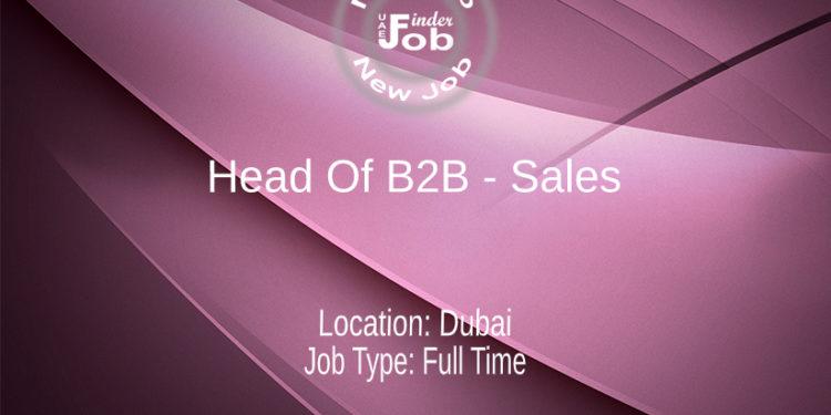 Head Of B2B - Sales