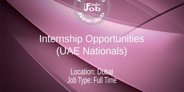 Internship Opportunities (UAE Nationals)