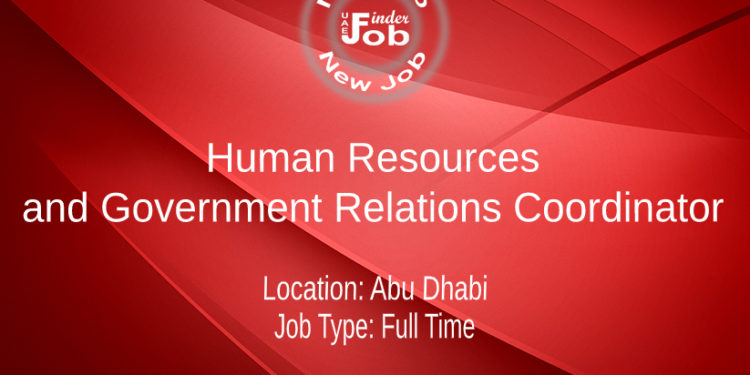 Human Resources and Government Relations Coordinator