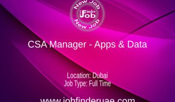 CSA Manager - Apps & Data