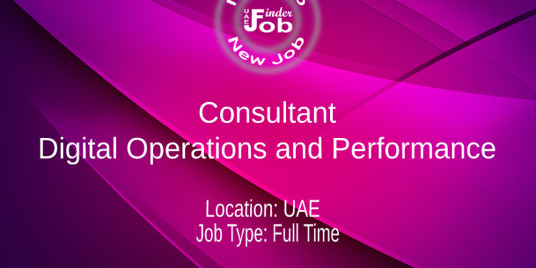 Consultant Digital Operations and Performance