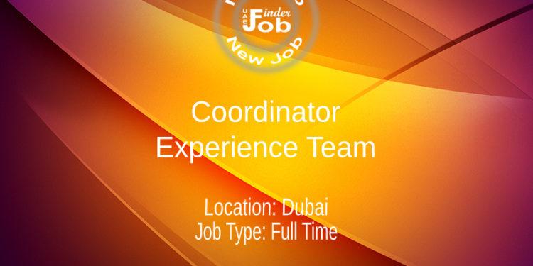 Coordinator.Experience Team