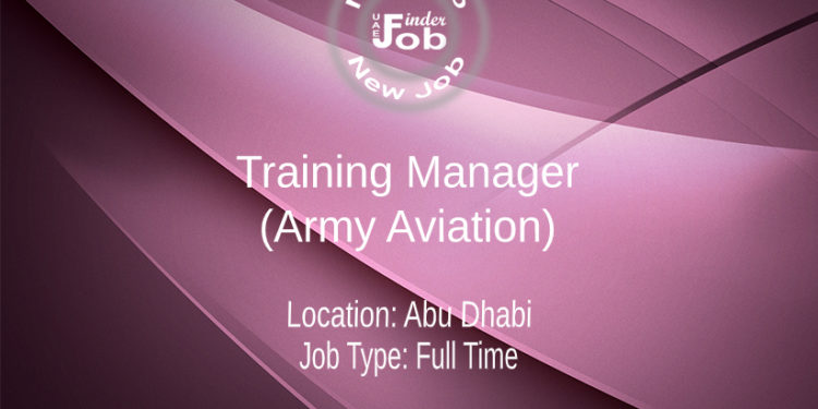Training Manager (Army Aviation)