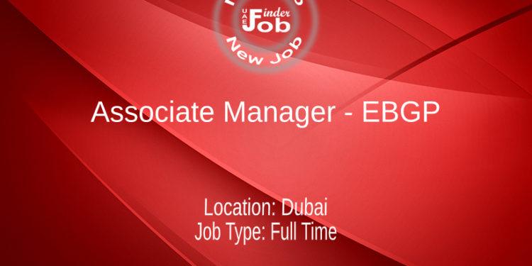 Associate Manager - EBGP