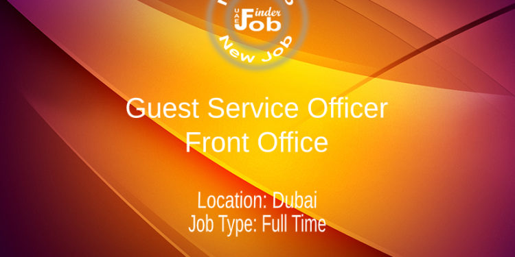 Guest Service Officer - Front Office