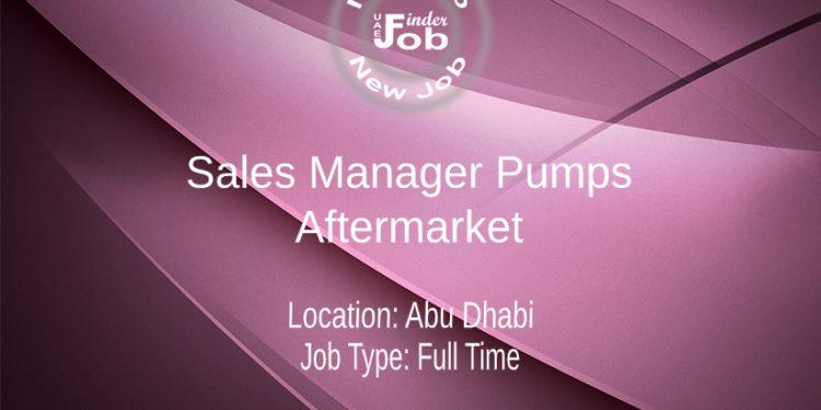 Sales Manager Pumps - Aftermarket