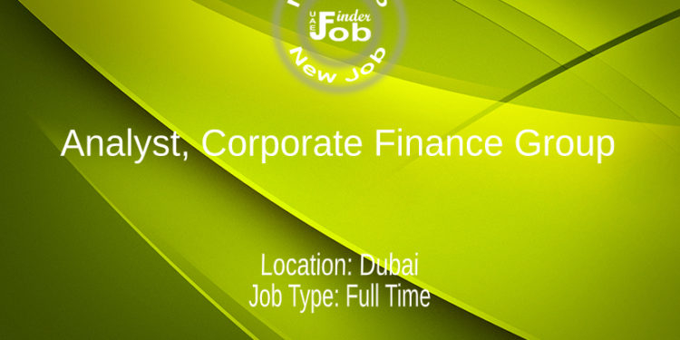 Analyst, Corporate Finance Group