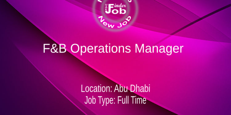 F&B Operations Manager