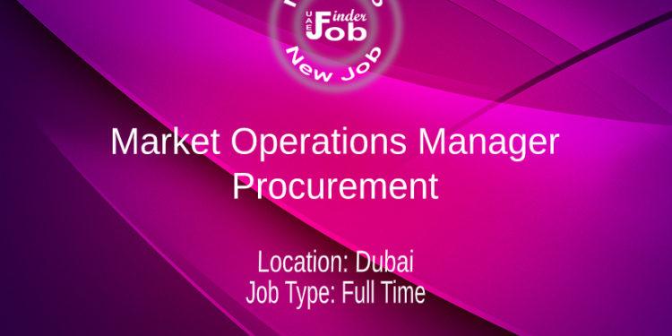 Market Operations Manager - Procurement